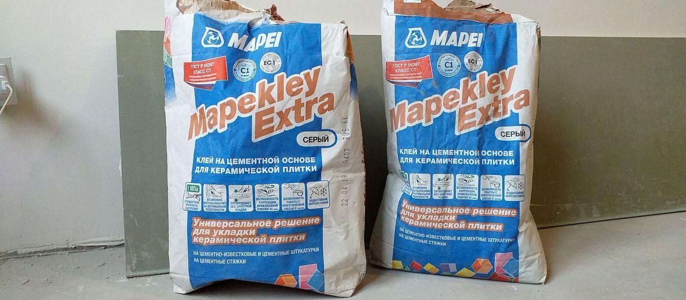 отзыв на плиточный клей mapei mapekley extra
