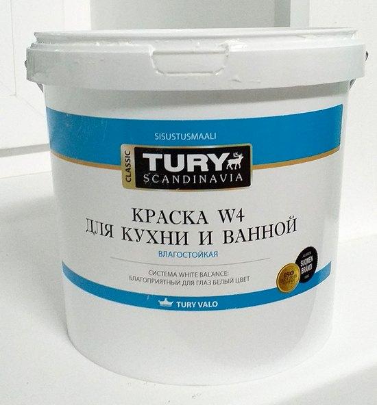 отзыв краска tury w4 для кухни и ванной