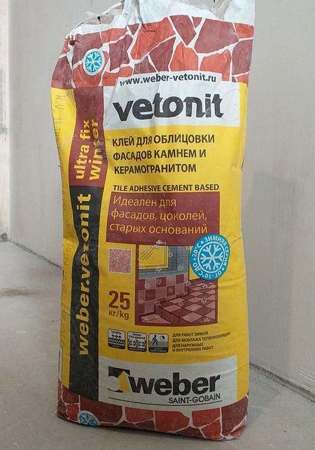 vetonit ultra fix winter отзыв на плиточный клей