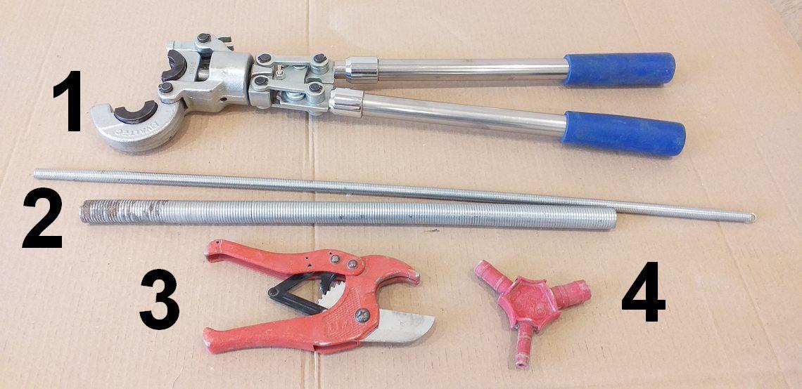 инструменты для монтажа металлопластиковых труб