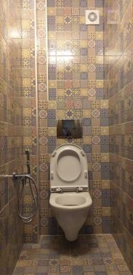 туалет 121 серии с гигиеническим душем и унитазом инсталляцией