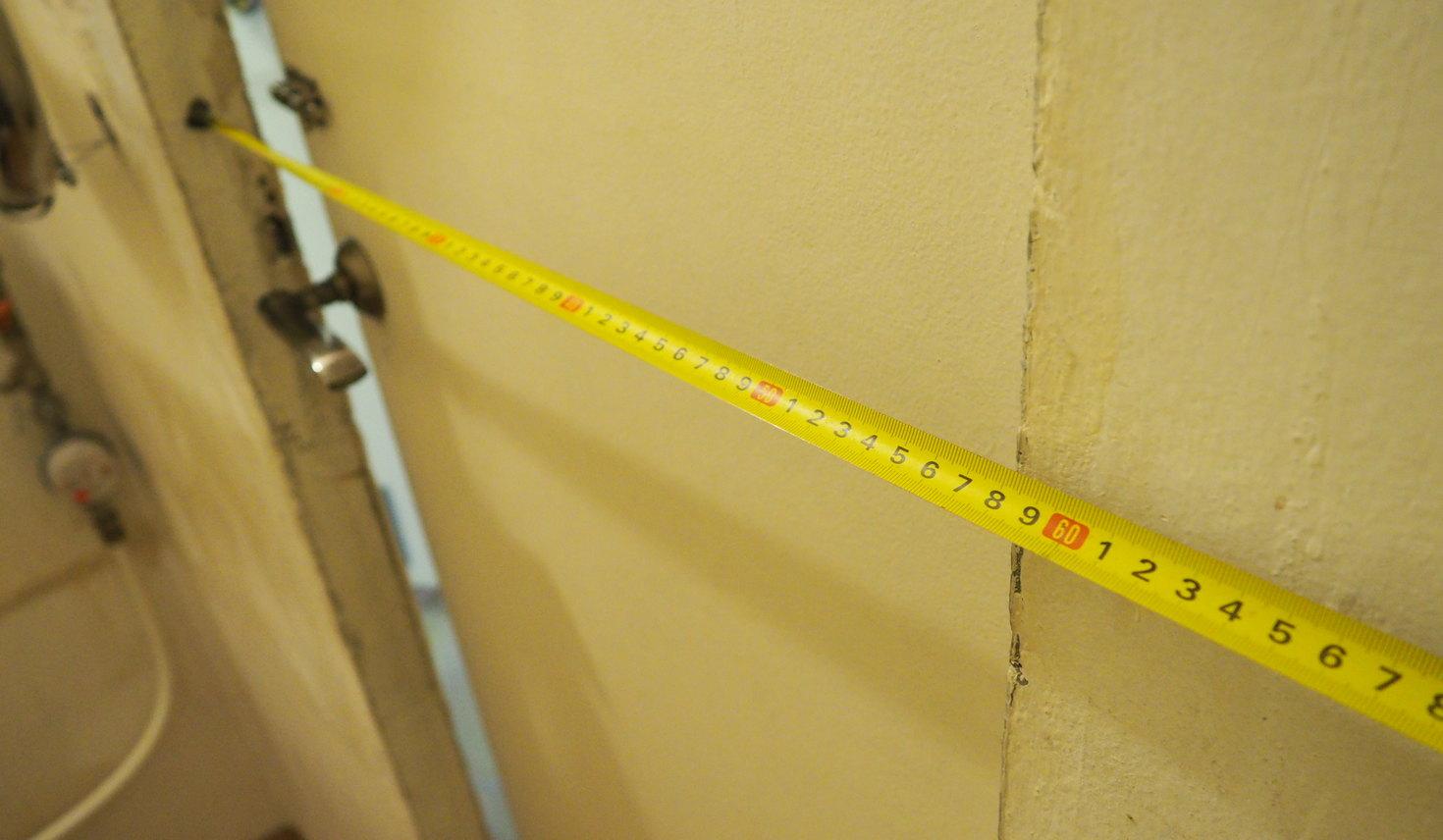 Ширина дверных проёмов в санузлах 137 серии 57 см