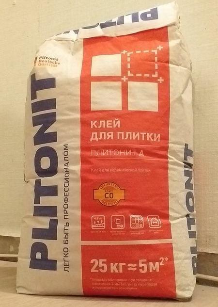 отзыв плиточный клей плитонит А