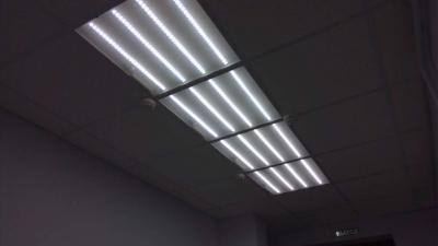 Светодиодное освещение и потолки армстронг в кабинете председателя