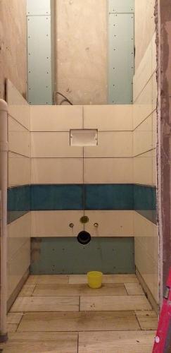 Укладка плитки в туалете 137 серии