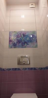 туалет после ремонта со скрытым люком