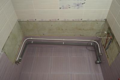 подготовка к установке чугунной ванны